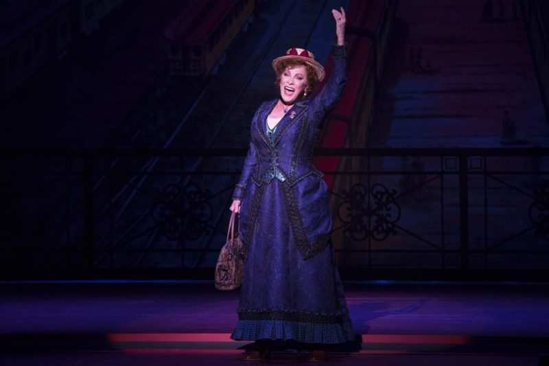 Betty Buckley takes the stage as Dolly Levi, a 19th century matchmaker.