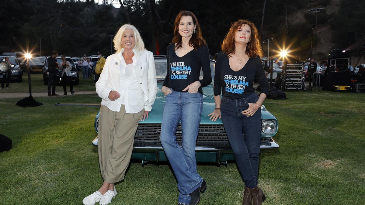 Callie Khouri - Geena Davis - Susan Sarandon - 6/21 -  Amy Sussman/Getty Images
