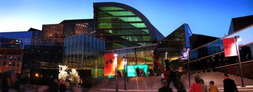 Front view of Kentucky Center main entrance